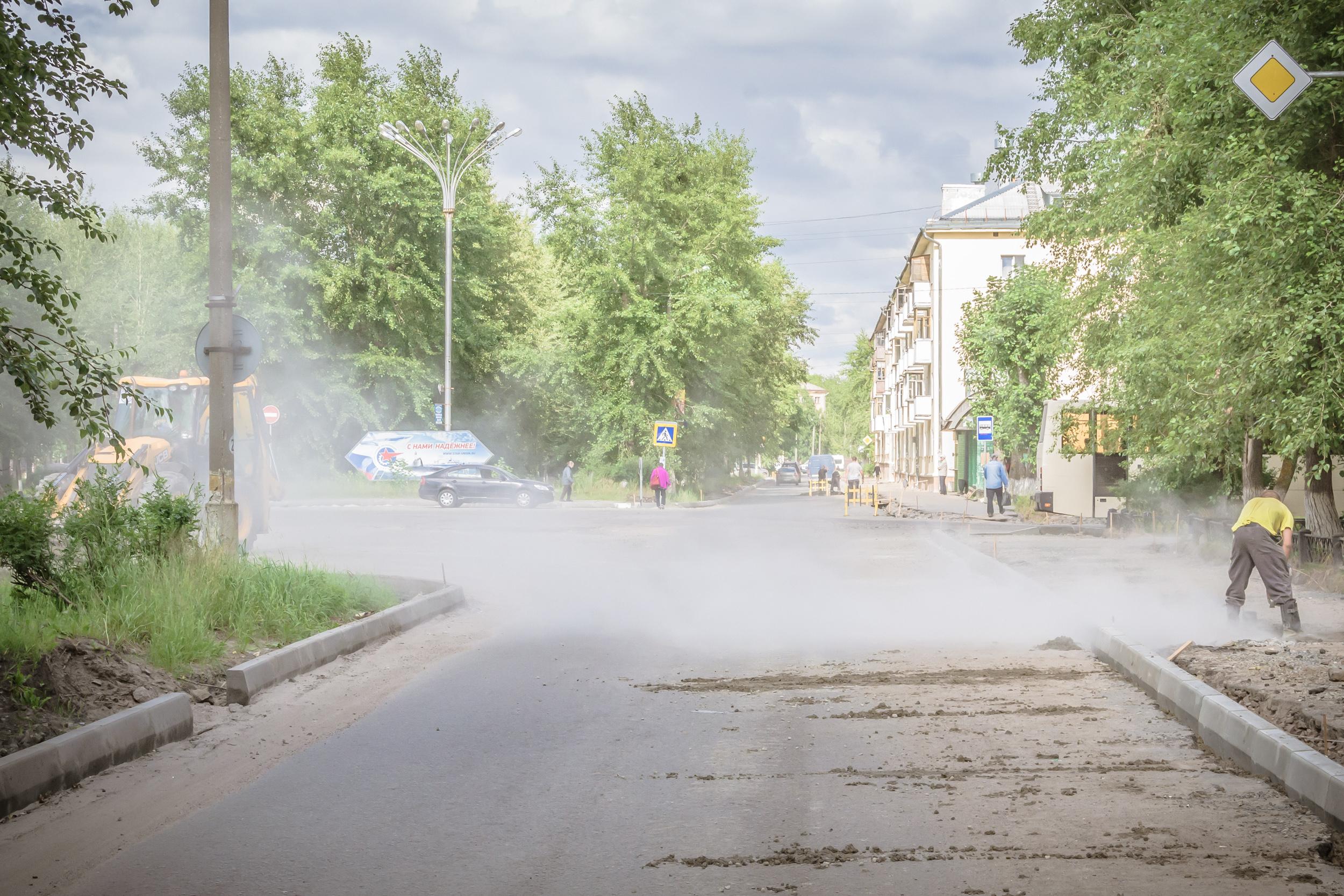 Ремонт дороги улица МИРА Северовдинск