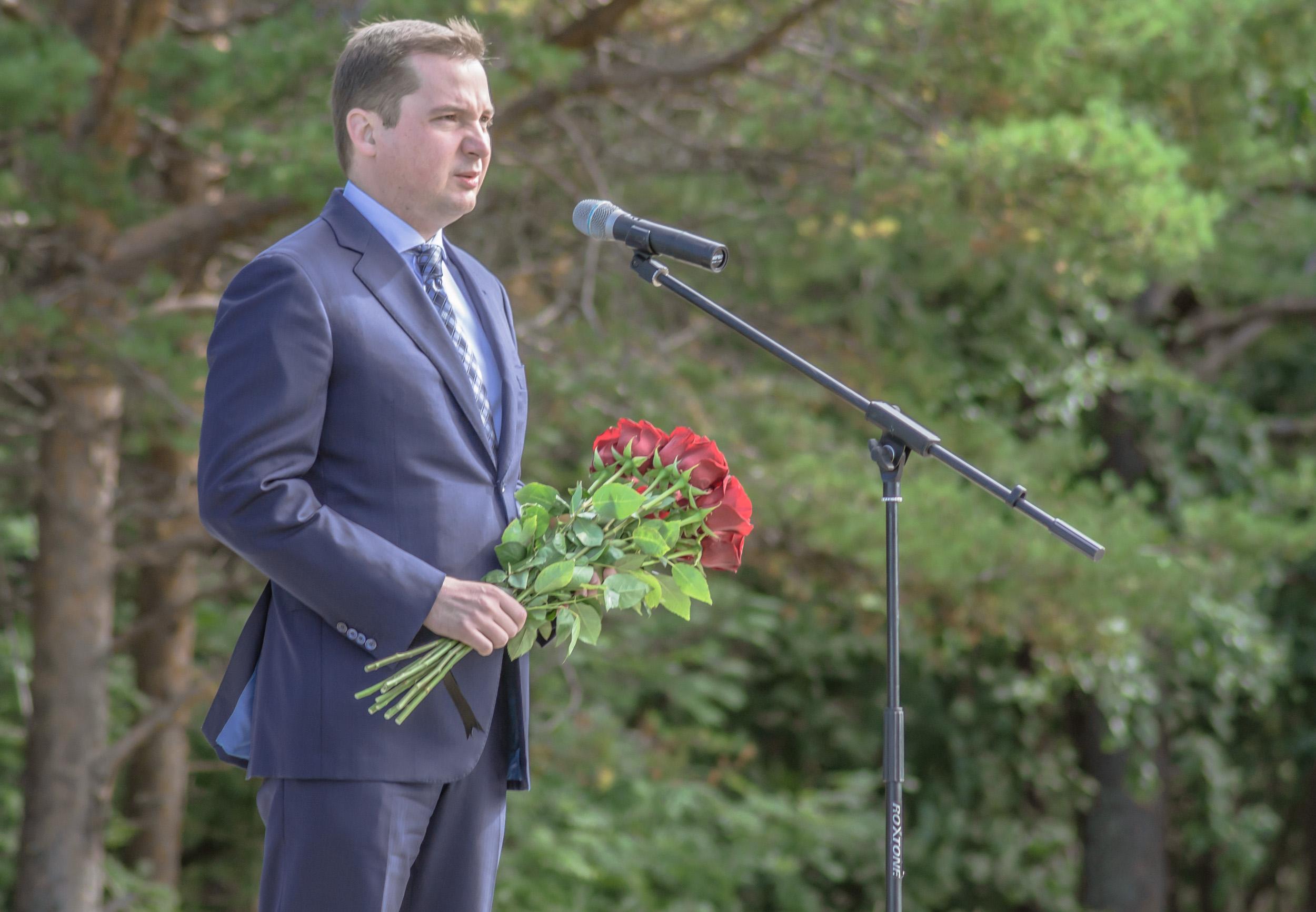 Александр Цыбульский на дне памяти АПЛ Курск в Северодвинске 2020